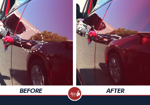 Watch As A Man Demonstrates How To Remove Dents From Car Yourself